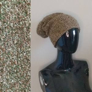 Vintage Slouchy Marled Knit Stocking Cap Beanie